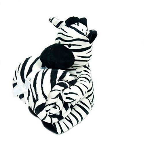 Baby Blanket & Plush Stuffed Animal Toy- Zebra - 1