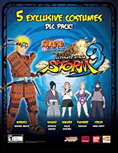 Naruto Shippuden : Ultimate Ninja Storm 3 - 5 Costume Pack DLC Code Card for PS3 Sony Playstation 3
