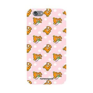 HomeSoGood Cute Teddy Pattern Pink 3D Mobile Case For iPhone 6S (Back Cover)