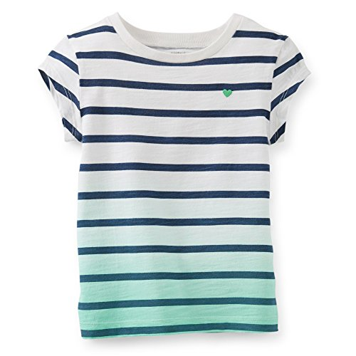 Carter'S Baby Girl'S S/S Striped Slub Jersey Tee (6 Months, Navy) back-221567