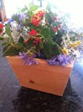 Cedar Square Planter Box - Great for Flowers Vegetables or Herb Garden -100% Satisfaction Guaranteed, Perfect for Deck, Wedding Table Center Piece - Indoor or Outdoor Patio Table - Great Center Piece