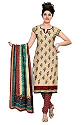Riddhi Dresses Women's Cotton Unstitched Dress Material (Riddhi Dresses 104_Multi Coloured_Free Size)