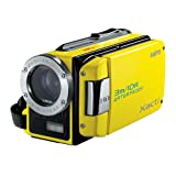 Sanyo VPC-WH1EYL HD Waterproof Dual Video & Photo Camera - Yellowby Sanyo