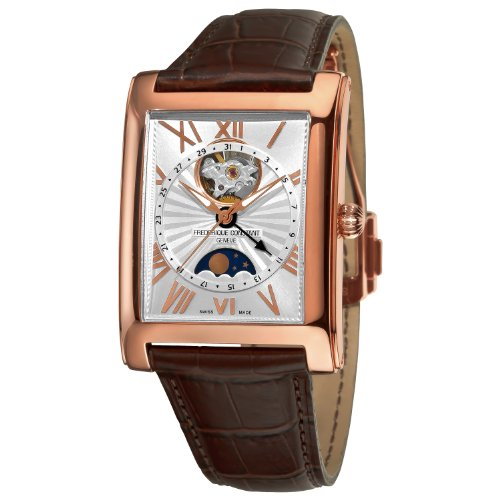 Frederique Constant Men's FC335MS4MC4 Carree Open Carree Open Mens Gold Plated Moonphase Date Watch Watch