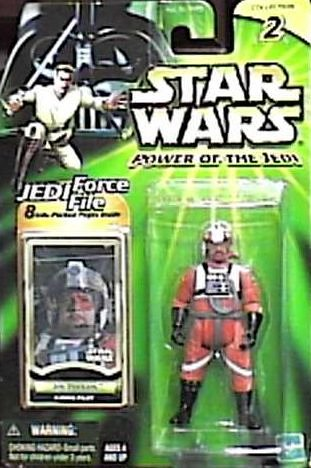 Star Wars Power of the Jedi 3 inch Action Figure - Jek Porkins (X-Wing Pilot) plus Bonus 8 Info packed pages Jedi Force File Inside (Porkins Action Figure compare prices)