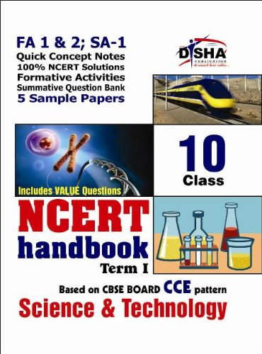 NCERT Handbook Term 1 Science: Class 10 (NCERT Solutions + FA activities + SA Practice Questions & 5 Sample Papers)