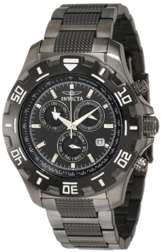 Invicta Men's 6412 Python Collection Chronograph Gun Metal Stainless Steel Watch