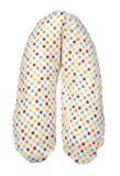 Flexofill 2008-1-536 - La lactancia materna Almohada, lunares de lujo, tama�o XL, 190 x 40 cm, colorido