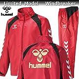hummel ヒュンメル バックプリント 裏起毛 ウィンドブレーカー ジャケット パンツ 上下 HAW2062B HAW3062 21 チリペッパー (S)