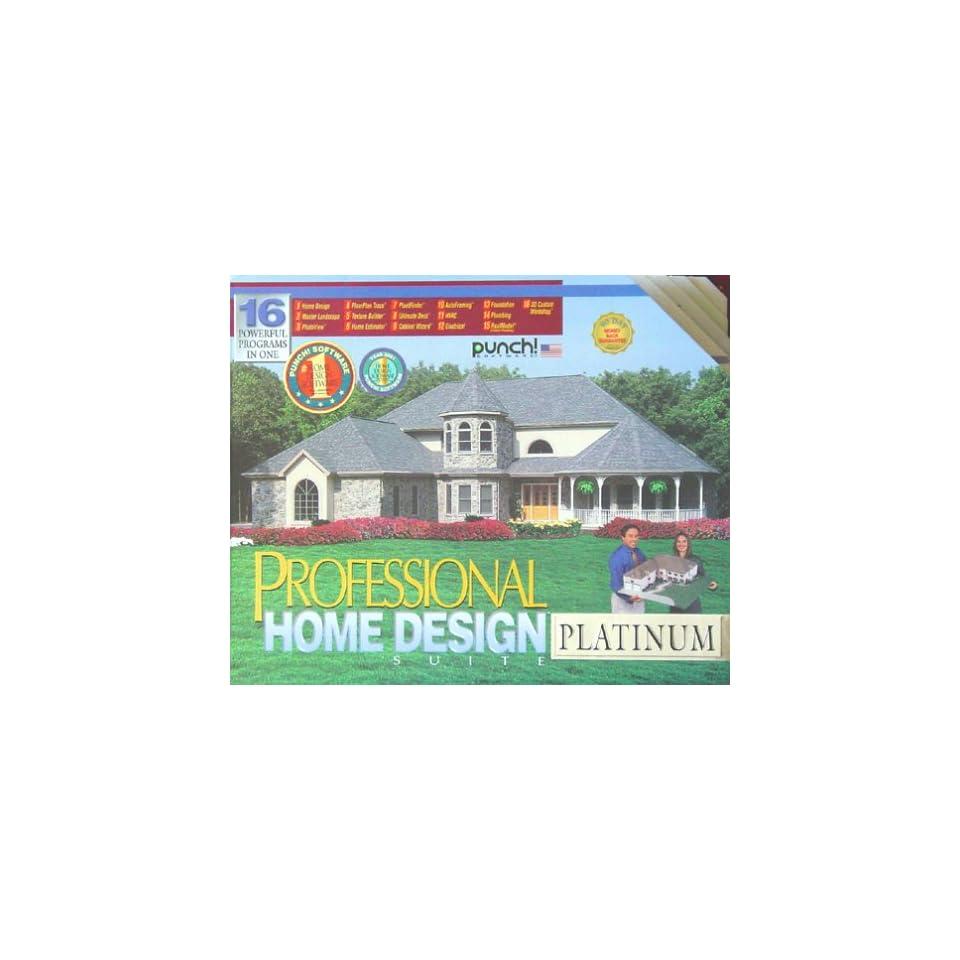 33100 PUNCH PROFESSIONAL HOME DESIGN SUITE PLATINUM SM BOX