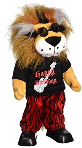 Chantilly Lane Rockin Lion Sings The Beatles Birthday Plush, 15""