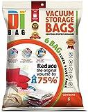 DIBAG ® 6 Vacuum komprimierte Speicherung platzsparend Beutel 70 x 50 cm, für Kleidung, Bettdecken, Bettwäsche, Kissen, Vorhänge und vieles mehr.