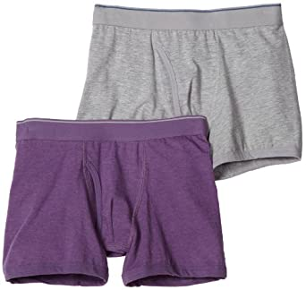 Bottoms Out Men's 2 Pack Fresh Heather Trunk, Grey/Lavender, Small