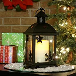 Flipo Pacific Accents Indoor/Outdoor Small Winter Lantern, Oil Rubbed Bronze