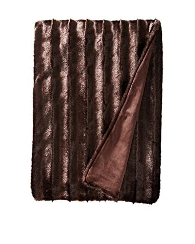 Fabulous Furs Signature Series Faux Fur Throw, Carved Sable