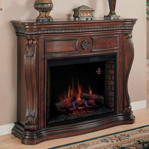 classicflame lexington electric fireplace mantel in