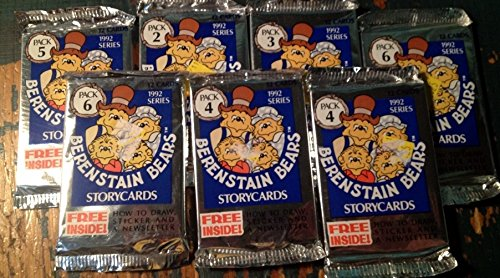Berenstain Bears 1992 Storycards Trading Cards 7 Sealed Packs