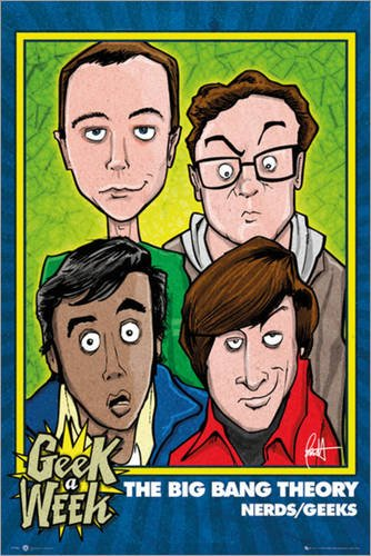 Big Bang Theory, The poster-Geeks/Nerds-günstig-poster/XXL poster