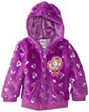 Disney Girls 2-6X Princess 1 Pieced Foil Heart Hoodie