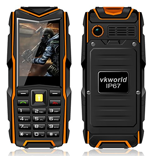 5200mAh Long Standby Rugged Mobile Phone with Waterproof Shockproof Dustproof Unlocked Phone for Elderly People Adventurers Army Cellphone(Orange) (Mobile Phone Sale compare prices)