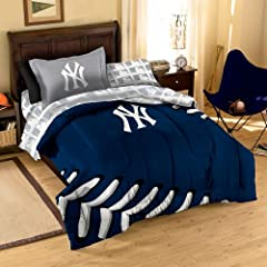 MLB New York Yankees Twin Bed in a Bag with Applique Comforter by Northwest