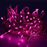 FIDOOVIVIA 30M/50M 300/400 LEDs Waterproof String Fairy Lights For Indoor&Outdoor Wedding Christmas Party Room With UK Plug 8 Operation Modes-Pink