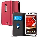 Motorola Moto X Play Case, VALKYRIE Motorola Moto X Play Flip Slim Wallet Case For Motorola Moto X Play With Card...