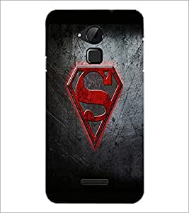 PrintDhaba Superman Logo D-2012 Back Case Cover for COOLPAD NOTE 3 LITE (Multi-Coloured)