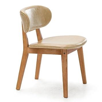 ERRU-Sillas Silla de madera Sillas de la tabla de cena Sillas de salón de los artículos caseros (5Colors, 51.5 *54.5 * 74cm) ( Color : A )