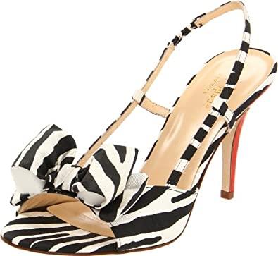 Kate Spade New York Women's Stella Sandal,Black\White,7.5 M US