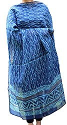 Indo Mood   Exclusive Hand Crafted Pure Maheshwari Indigo Blue Dupatta