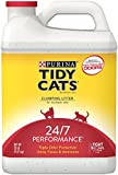 Tidy Cats Cat Litter, Clumping, 24/7 Performance, 20-Pound Jug, Pack of 2