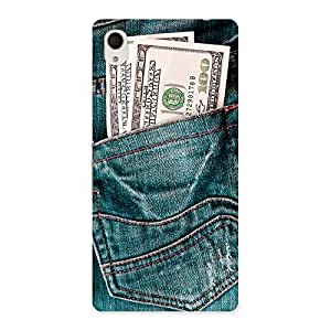 Dollars Jeans Back Case Cover for Xperia M4 Aqua