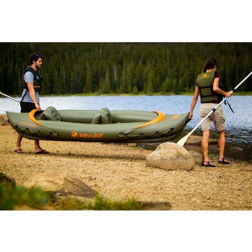 Sevylor tahiti 3 person fishing kayak fishing kayaks for 2 seater fishing kayak
