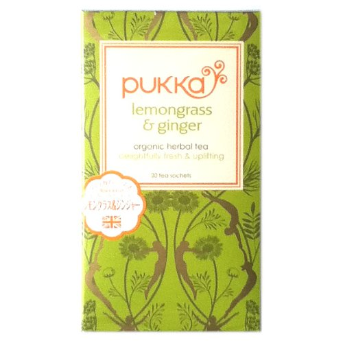 英国金賞受賞オーガニックハーブティー【PUKKA(パッカ)】レモングラス&ジンジャー ティー lemongrass&ginger