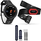 Garmin Forerunner 630 GPS Smartwatch W/ HRM-Run - Black/White - Blue Band Bundle Includes Forerunner 630 GPS,...