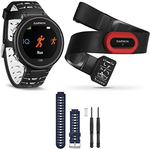Garmin Forerunner 630 GPS Smartwatch w/ HRM-Run - Black/White - Blue Band Bundle includes Forerunner 630 GPS, HRM-Run and Midnight Blue Watch Band