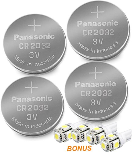 Panasonic ( 4 X - CR2032 + 4 Bonus LED Bulbs ) Lithium Coin Cell Battery (Energizer Battery Cr2032 compare prices)