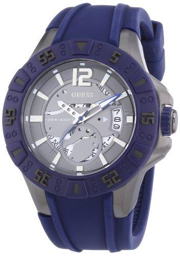Guess Magnum W0034G6 - Reloj analógico de cuarzo para hombre, correa de silicona color azul