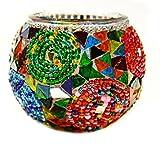 Turkish Glass Mosaic Candle Holder-#8