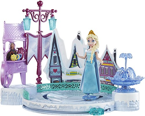 New Disney Frozen Elsas Skating Playset