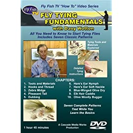 Fly Tying Fundamentals with Davy Wotton (1-3/4 Hour Tutorial DVD)