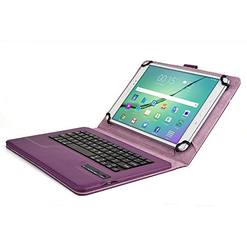 Samsung Galaxy Tab S2 9.7 (Wi-Fi T810/3G LTE T815) Keyboard case, COOPER INFINITE EXECUTIVE Bluetooth Detachable QWERTY Wireless Keyboard Carrying Case Tablet Cover Folio with Stand (Purple) (Wi Fi Key Board compare prices)