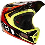 Fox Rampage Pro Carbon Cycling Helmet, Red/Yellow, XX-Large