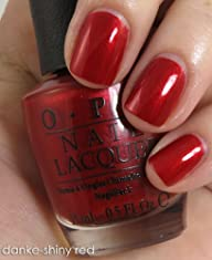 OPI Nail Lacquer, # NL G14 Danke-Shiny Red, 0.5 Ounce