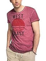 edc by ESPRIT Camiseta Manga Corta (Rojo)
