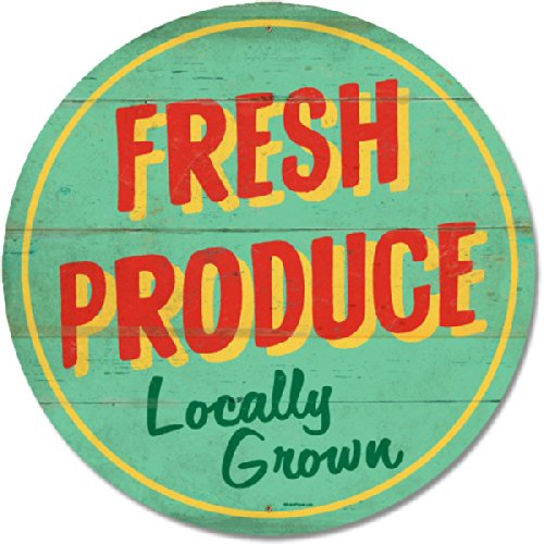 Fresh Produce Tin Sign