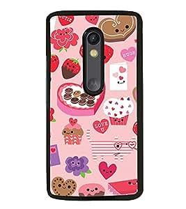 Fuson Premium 2D Back Case Cover Heart pattern With Multi Background Degined For Motorola Moto G3::Motorola Moto G (3rd Gen)