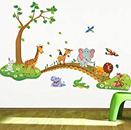 Giant Wall Decals for Kids Rooms, Nursery, Baby, Boys & Girls Bedroom - Peel & Stick, Large Removable Vinyl Wall Stickers. Premium, Eco-friendly, Bsci Approved. Bring Your Walls to Life! (Tree Large)