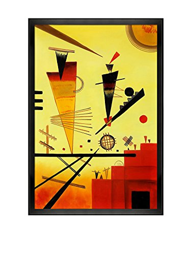Wassily Kandinsky Structure Joyeuse (Merry Structure) Framed Hand-Painted Reproduction